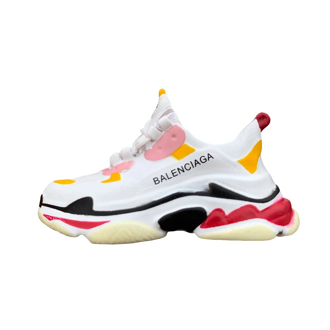 Balenciaga Triple S White/Pink Mini Sneaker(Tiny Sneaker) Keychain -  - TomorrowSummer