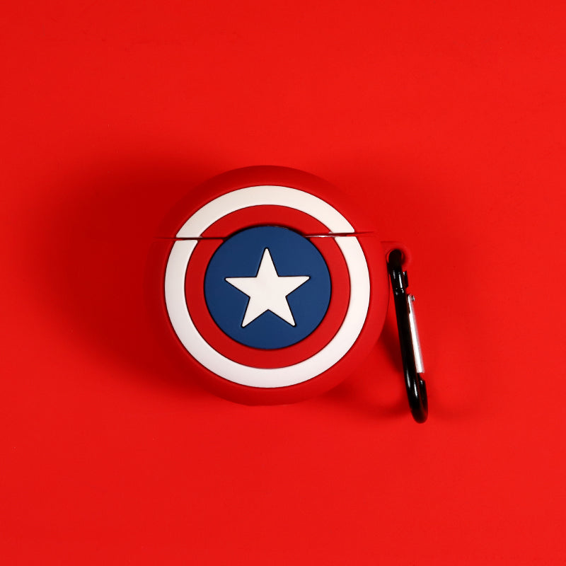 American Captin Shield Shaped Airpods Case - Movie Airpods Cases - TomorrowSummer