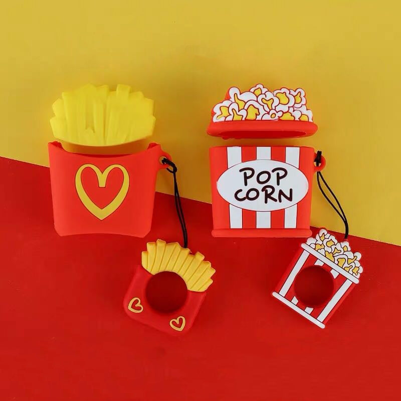 Popcorn&Fries Airpods TPU Case -  - TomorrowSummer