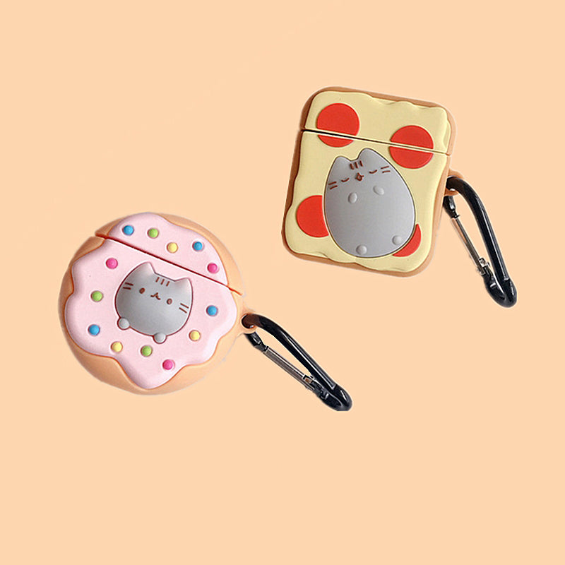 Donut & Toast With Cat Airpods Case -  - TomorrowSummer