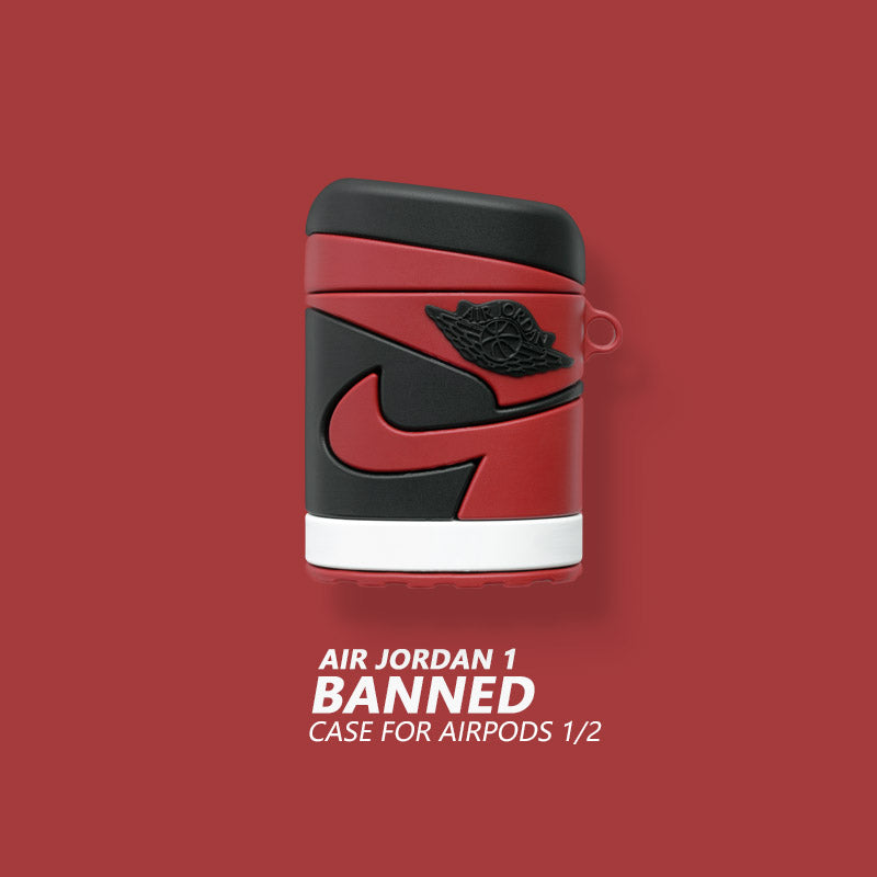 AJ 1 'Banned'  'Shadow' Shaped Airpods Case - Fashion Airpods Cases - TomorrowSummer