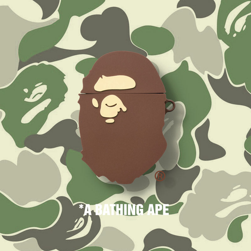 BAPE Logo Shaped Airpods Case - Fashion Airpods Cases - TomorrowSummer