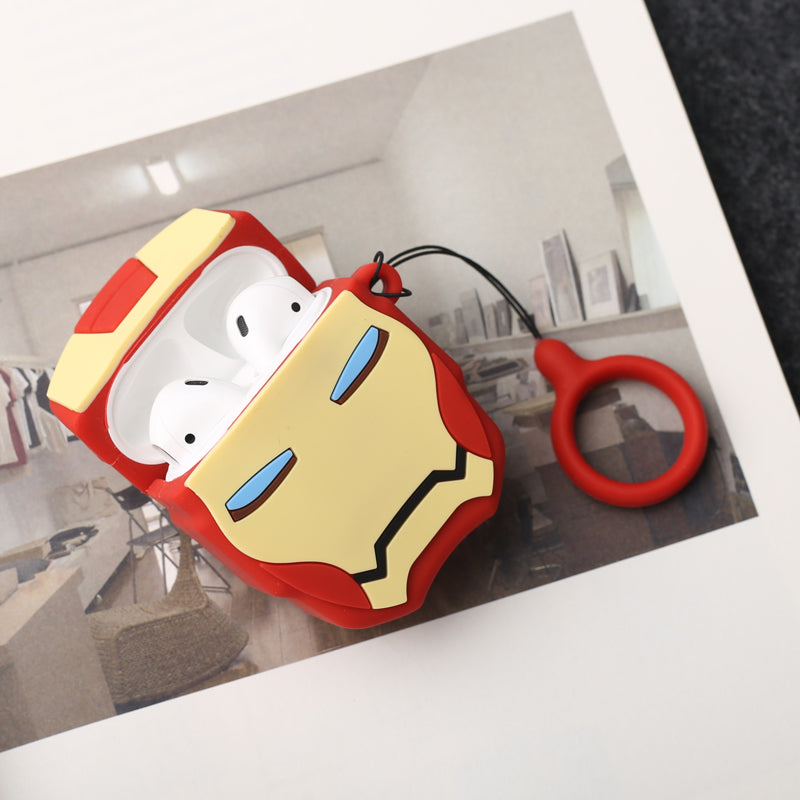 Iron Man Head Shaped AirPods Case - Fashion Airpods Cases - TomorrowSummer