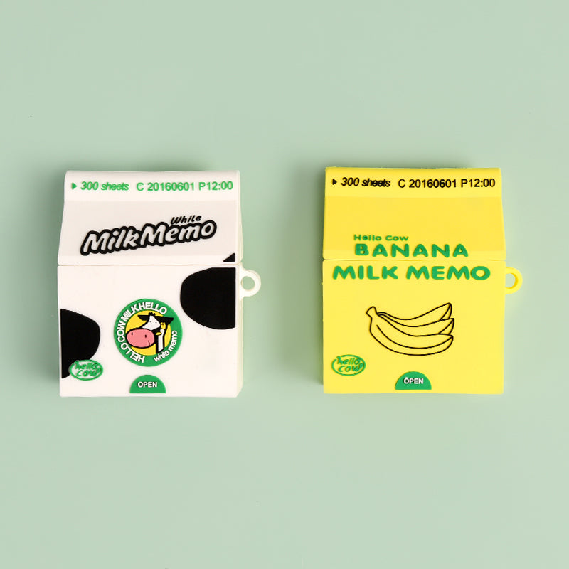 Banana Milk Drink Shaped Airpods Case - Food Airpods Cases - TomorrowSummer