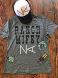 Ranch Wifey tee with your personal Ranch BRAND