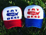 Eat USA Beef Glitter hat