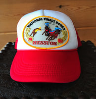 Vintage NFR Hesston 1980 Team Roping hat