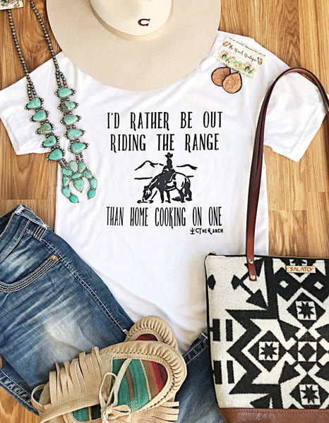 I'd rather be out riding the range tee
