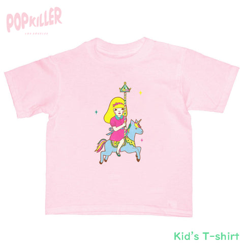 """Escape From a merry-go-round"" Kid's t-shirt made by Popkiller"