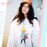 """Pop'n Roll Hero"" Pullover sweatshirt  made by Popkiller"