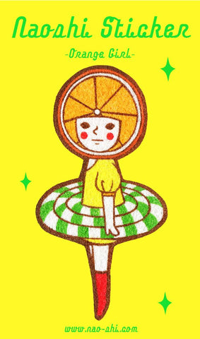 Sticker -Orange Girl-