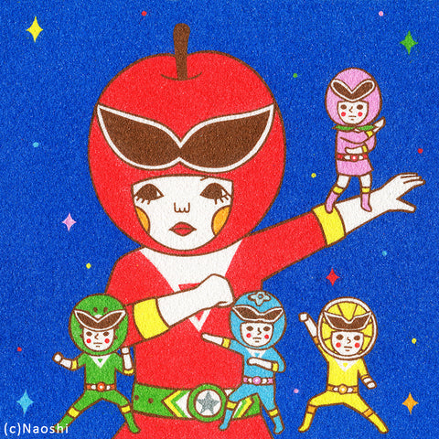 8x8 Art Print -Fruits Sentai-