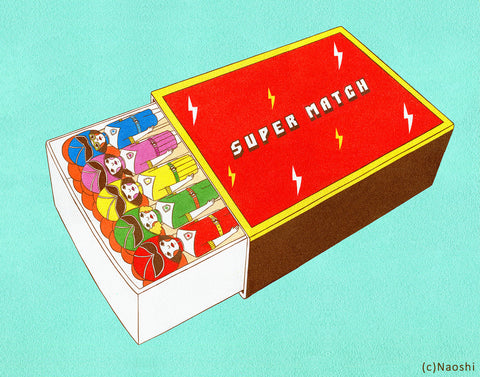 8x10 Art Print -Super match box-
