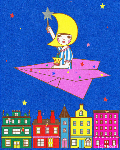 8x10 Art Print -Moon girl-