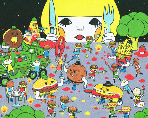 13x19 Art Print -Food Fighters-