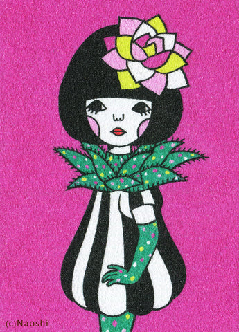 5x7 Art Print -Aloe Girl-