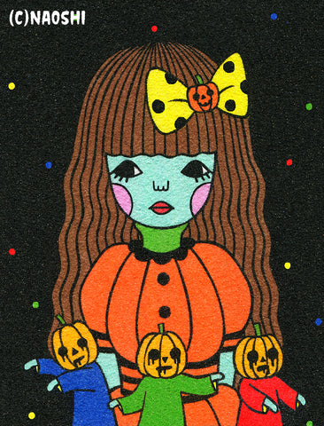 5x7 Art Print -Pumpkin Zombies-