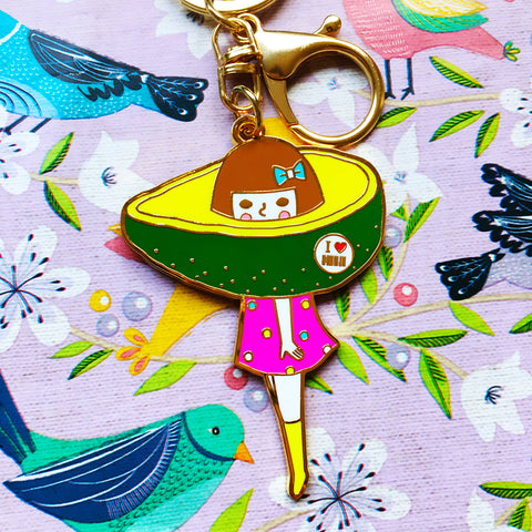 Keychain  -Avocado Girl-
