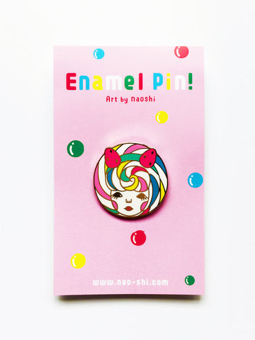 Enamel Pin -Lolipop Girl-