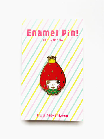 Enamel Pin -Strawberry Princess-