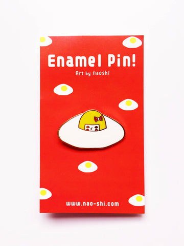 Enamel Pin -Escape to sunny side up egg-