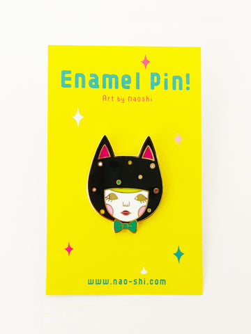 Enamel Pin -Black Cat-