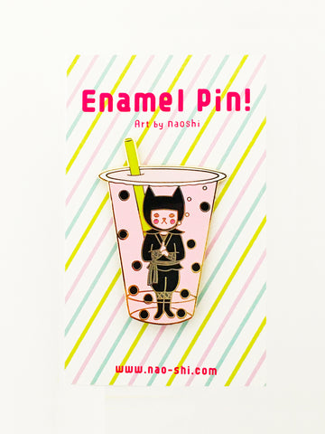 Enamel Pin -Boba Ninja / Strawberry-