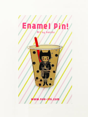 Enamel Pin -Boba Ninja / Milk Tea-