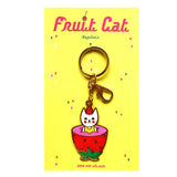 Fruit Cat Keychain -Strawberry-