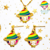 Rainbow Planet -Earrings & Necklace-