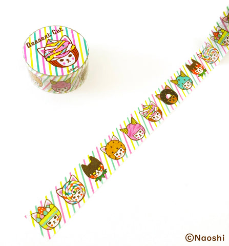 Washi Tape -Dessert Cat-