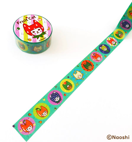 Washi Tape -Fruit Cat-
