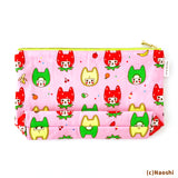 Zipper Pouch -Fruit Cats-
