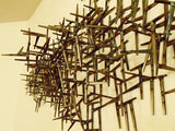 Welded Nails Metal Wall Sculpture