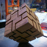 Monolith - Tabletop Wood and Metal Sculpture