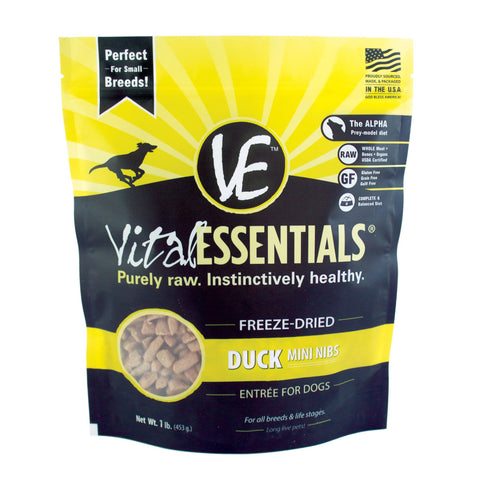 Duck Mini Nibs Freeze-Dried Grain Free Dog Food