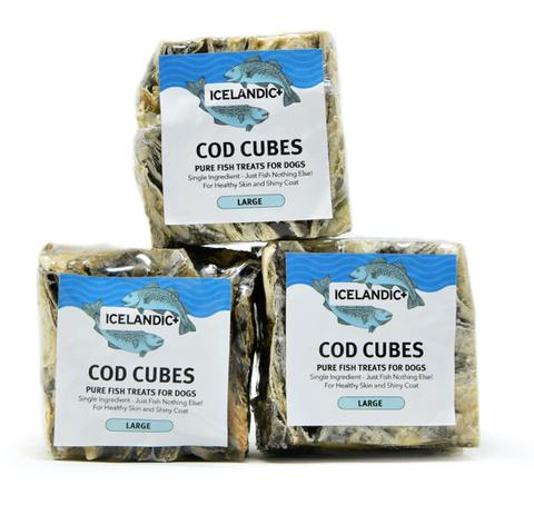 100% Pure Icelandic+™ Cod Skin Large Cube Dog Treat