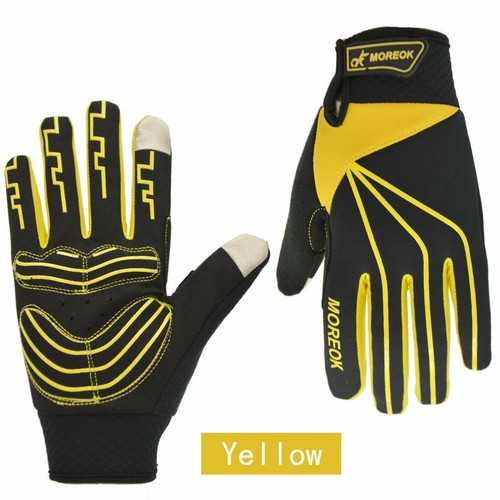 MOREOK Winter Windproof Full Finger Touch Screen Mountain Bike Gloves Anti-slip Men Women Bike Gloves