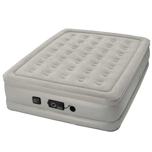 Insta-Bed Raised 19 inch Queen Airbed with NeverFLAT Pump