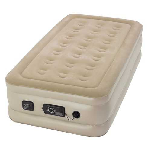 Serta Raised Twin Airbed with NeverFlat Pump