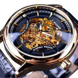 WINNER F120520 Self-winding Mechanical Watch Fashion Leather Strap Men Wrist Watch