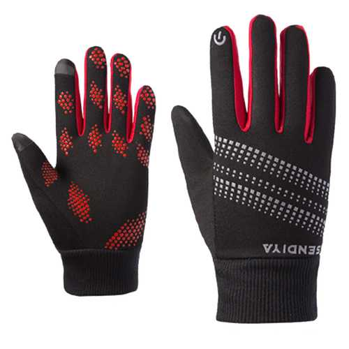 BIKIGHT Outdoor Sports Climbing Cycling Gloves Men And Women Fleece Windproof Gloves Touch Screen Gloves