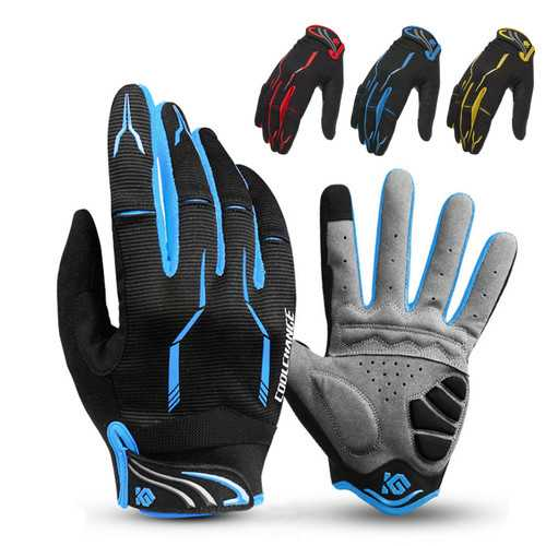 CoolChange Winter Racing Cycling Motorcycle Gloves Full Finger Touchscreen Gloves Skidproof