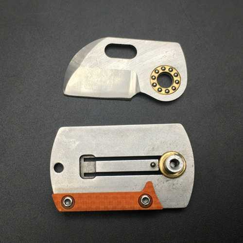 LAOTIE 73mm D2 Steel Outdoor Survival Folding Knife Portable Mini Pocket Army Knife Keychain Tool