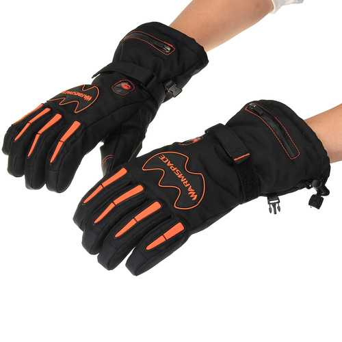 WARMSPACE Touchscreen  Temperature Adjustment 2x 5600mAh Batterie Winter Cycling Motorcycle Gloves Full Finger