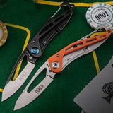HX OUTDOORS ZD-009B Carbon Fiber EDC Portable Folding Knife Outdoor Wallet Knife Fishing Knife