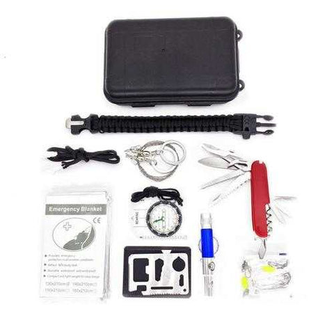 Outdoor Sports SOS Emergency Survival Equipment Kit For Hiking Tool With Self-Help Box