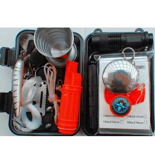 Outdoor Sports SOS Emergency Survival Equipment Kit For Tactical Tool With Self-Help Box