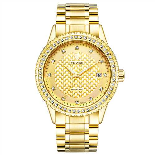 TEVISE Diamonds Business Style Automatic Mechanical Watch