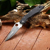 BROTHER 1605G 218mm 440C Stainless Steel Knife Portable Folding Knife Outdoor Survival Knife